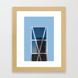 Minimalist Architecture in Madrid Framed Art Print