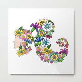 Blooming Ponytail Metal Print