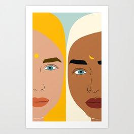 Day & Night #illustration #people Art Print