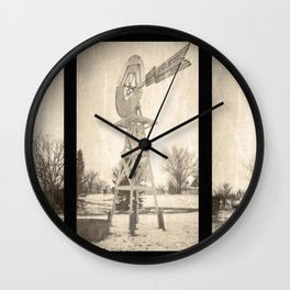 The Windmills of Limon Wall Clock