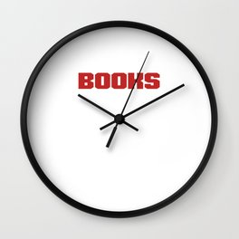 Books Make Me Happy Book Lover Bookish Bookworms Gift Wall Clock
