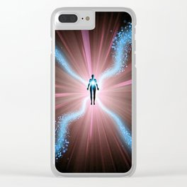 Beings Of Light Clear iPhone Case