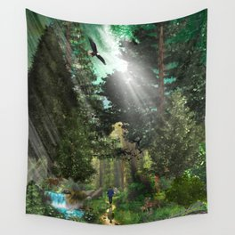 Forest Wisdom Wall Tapestry