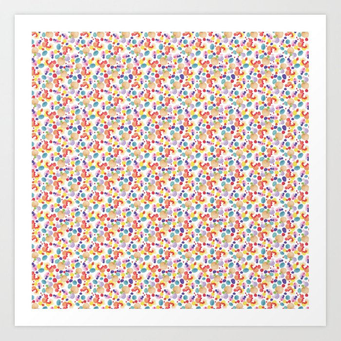 Rainbow Watercolor Circles Art Print