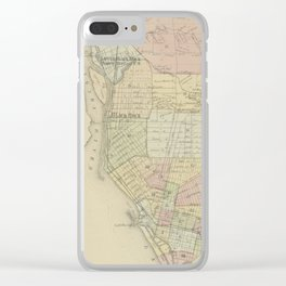 Vintage Map of Buffalo NY (1866) Clear iPhone Case