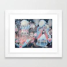 Otter Moon Framed Art Print