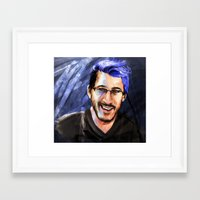 markiplier Framed Art Prints featuring Messing around with Markiplier by JazzySatinDoll