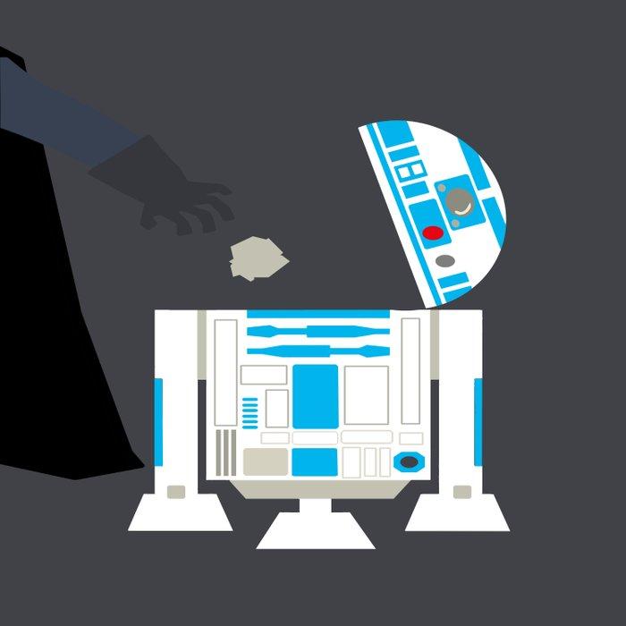 Darth Vader & r2d2 Duvet Cover
