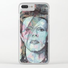 Bowie - Zigggy Stardust Clear iPhone Case