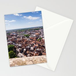 View of York from York Minster Cathedral tower Stationery Cards