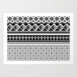 Modern Black 2 Art Print