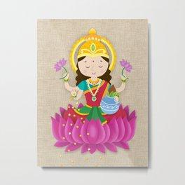 Goddess Laxmi Metal Print