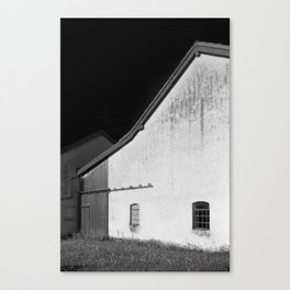 Black and White Barn, Germany Canvas Print