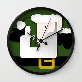 Green Santa Wall Clock