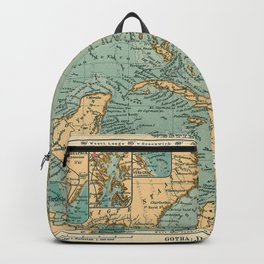 Vintage Map of The Caribbean (1906) Backpack