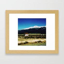 i live here Framed Art Print
