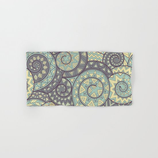 nagual. tribal seamless pattern Hand & Bath Towel
