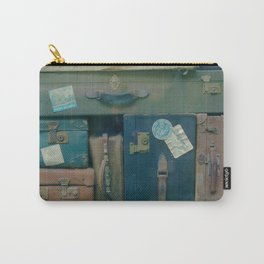 Vintage Suitcases (Color) Carry-All Pouch