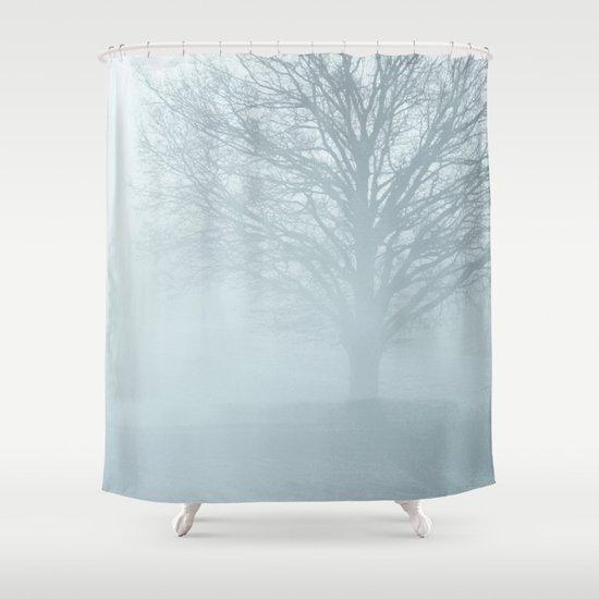 Tree / Winter Silence Shower Curtain