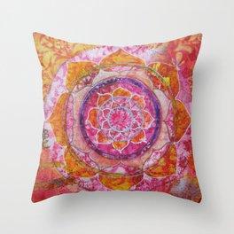 Creative Glow Mandala Throw Pillow