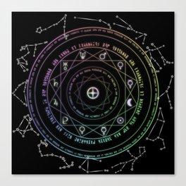 Astrological Magic Circle Canvas Print
