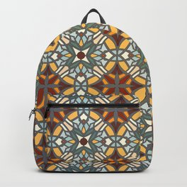 Abstract geometric retro seamless pattern Backpack