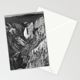 Lower Falls black and white Stationery Cards