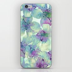 soft floral with purple iPhone & iPod Skin