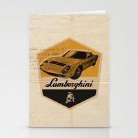 lamborghini Stationery Cards featuring Lamborghini Miura by Liviu Antonescu