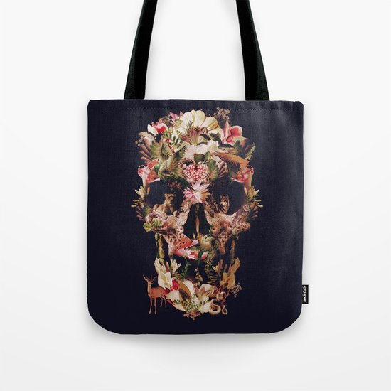 Jungle Skull Tote Bag