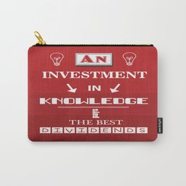 Benjamin Franklin Inspirational Investment Quote Carry-All Pouch