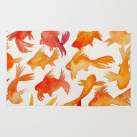 goldfish Area & Throw Rugs featuring Goldfish by Cat Coquillette