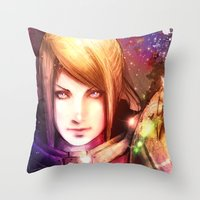 samus Throw Pillows featuring Samus 2013 by Vincent Vernacatola