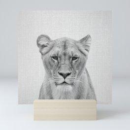 Lioness - Black & White Mini Art Print