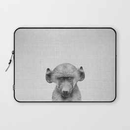 Baby Baboon - Black & White Laptop Sleeve
