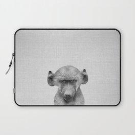 Baby Baboon - Black & White Laptop Sleeve