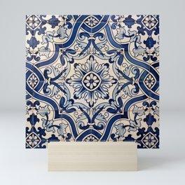 Beautiful Blue Portuguese tile - Azulejo Mini Art Print