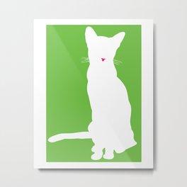 Cat Silhouettes: Absynnian Metal Print