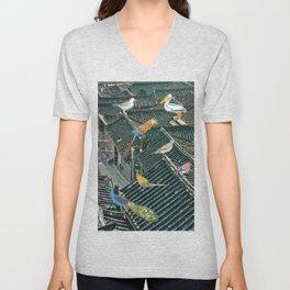 Bird Town Unisex V-Neck