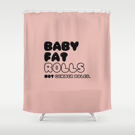 CHUBBY BABY in New York Shower Curtain