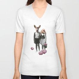 animal love Unisex V-Neck