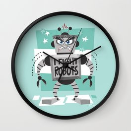 I Fight Robots 1 Wall Clock