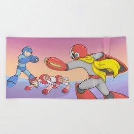 Brothers - Mega Man Art Beach Towel