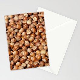Hazelnuts pattern Stationery Cards