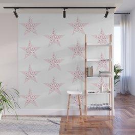 Pink stars Wall Mural