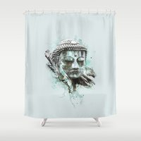 buddha Shower Curtains featuring Buddha by Kevin Roodhorst