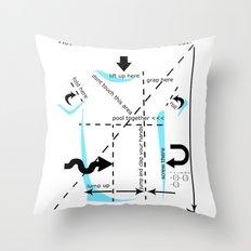 How to fold your shirt Throw Pillow