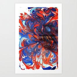Inner Surrender - Marbled Paper Series Art Print