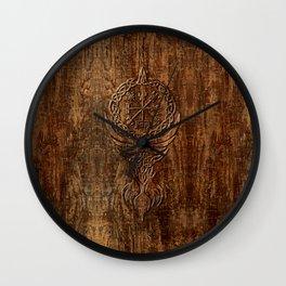 Vegvisir Old Norse Rune Viking mythology Wall Clock
