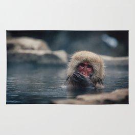 Hot Spring Snow Monkey Rug